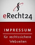eRecht24 Siegel Impressum geprüft