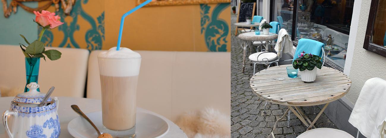 Café im Süden - Aussenansicht der Caféterrasse