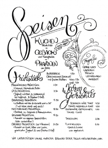 Café im Süden - Speisekarte