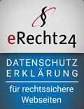 Datenschutzerklärung Siegel eRecht24